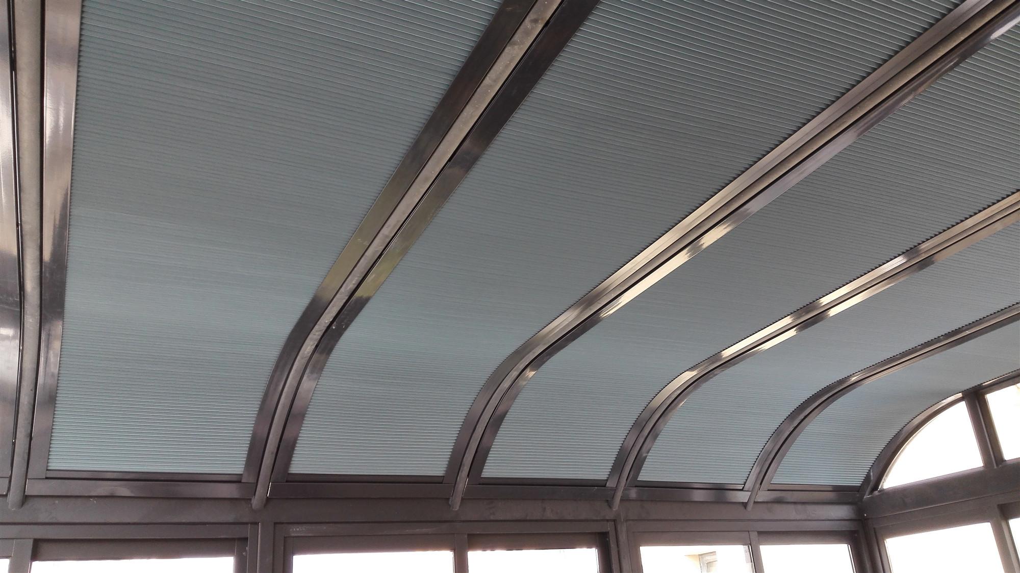 电动蜂巢常州天棚帘玻璃房顶遮阳a