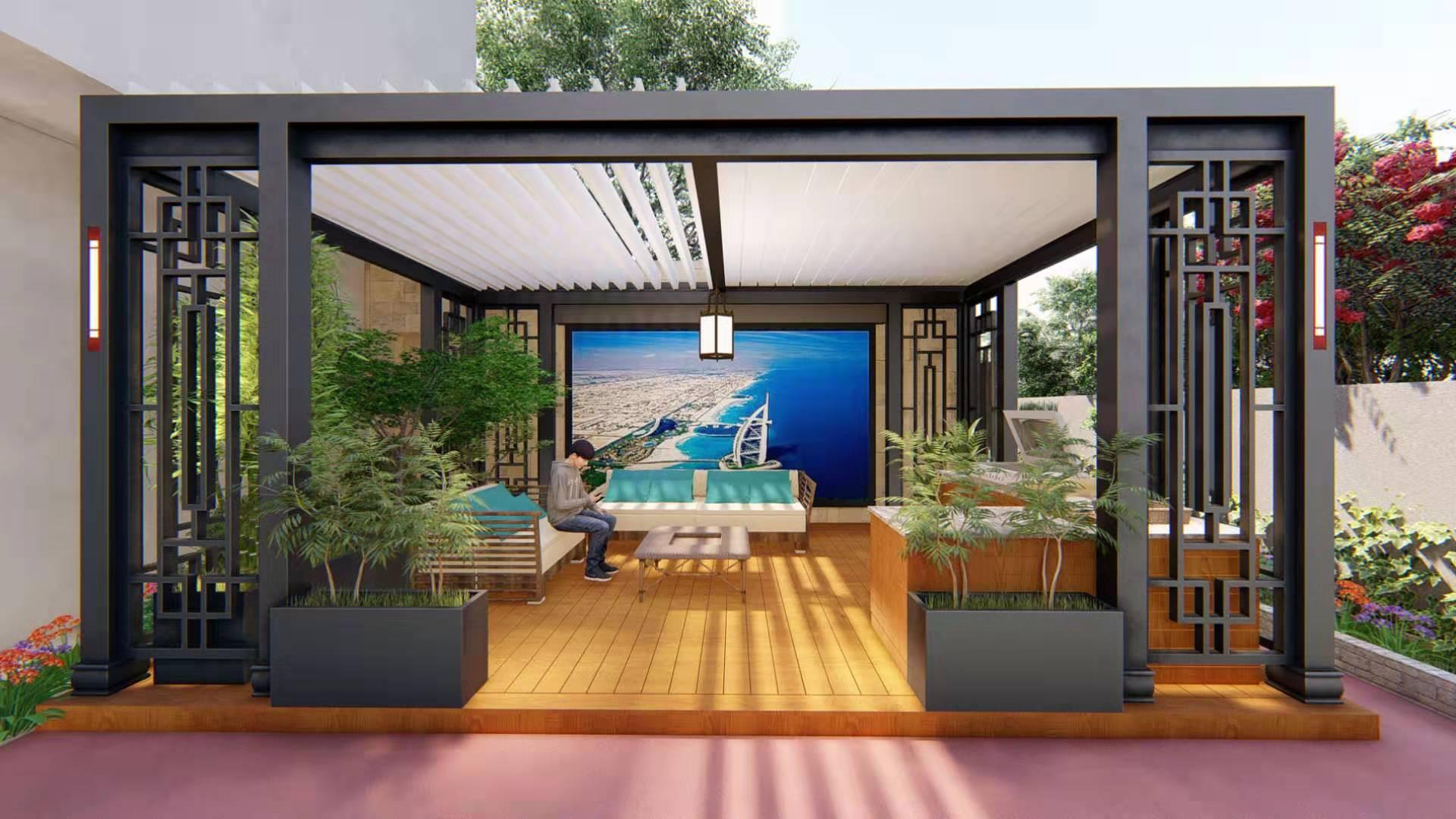 户外铝合金全防雨系统